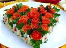 салат сердечком