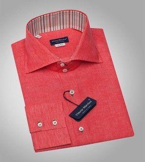 мужская коралловая рубашка
