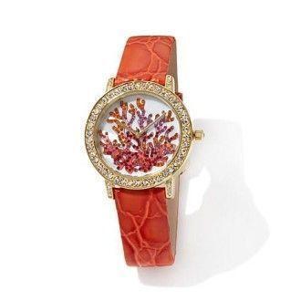 женские коралловые часы