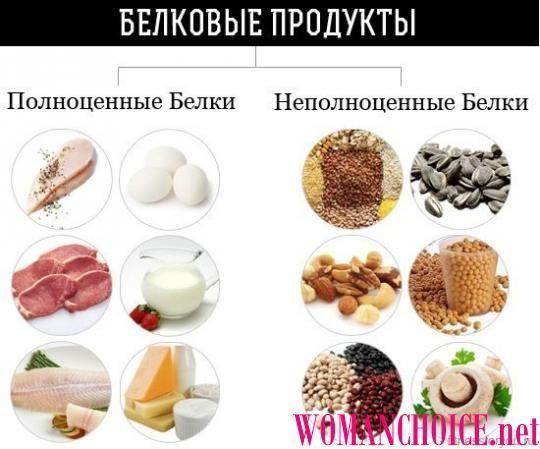 Что можно кушать на белковой диете