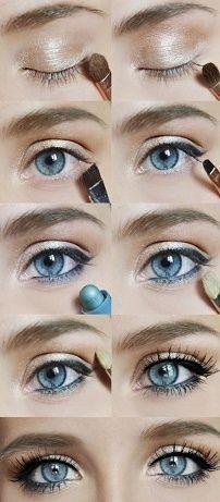 Kako napraviti dan make-up za plave oči