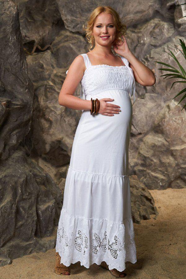 Ljeto pamuk haljinu bijele, kao što je na ovoj fotografiji, savršen za svakodnevno nošenje