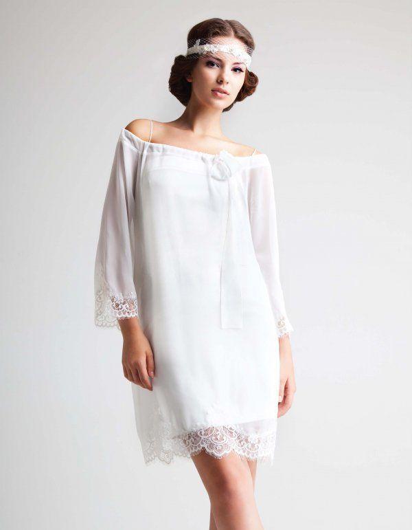 Gentle kratak tunika haljina - pogodno za romantične vjenčanje sliku