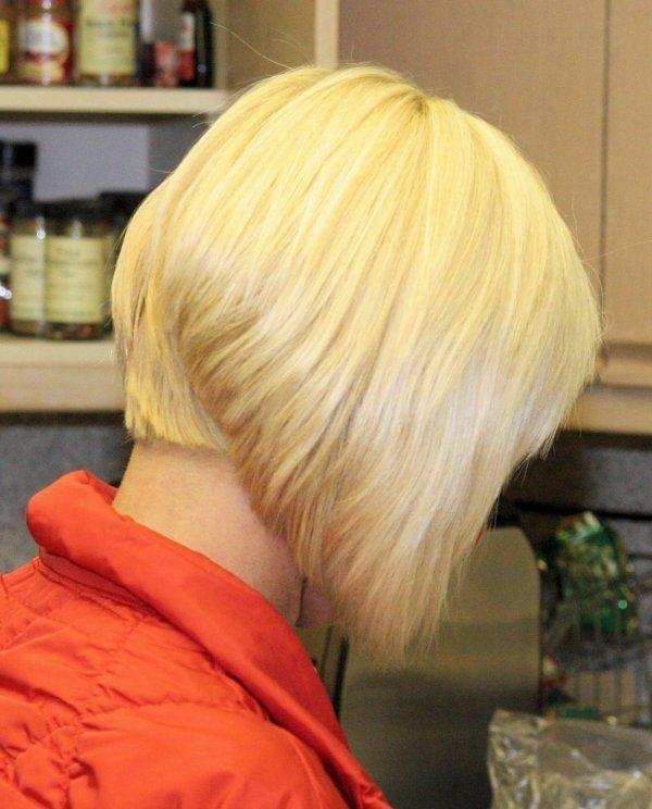 «Боб» с удлинением на средние волосы
