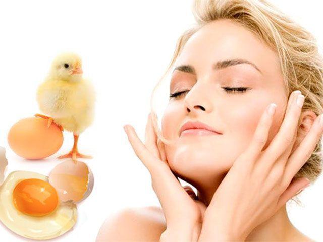 Egg maska na obličej doma