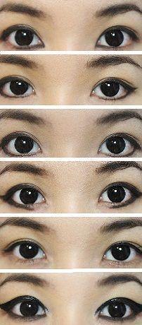 Виды стрелок: стрелки на глазах карандашом