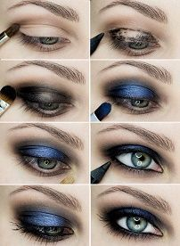 Макияж смоки-айс для голубых глаз пошагово