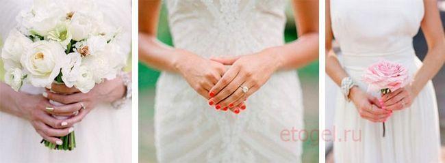 Vjenčanje manikir gel za nokte za mladu