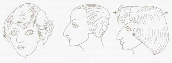 прически с длинным носом