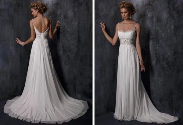Нежно и стильно — свадебное платье в стиле ампир. Фото с сайта svadbann.ru