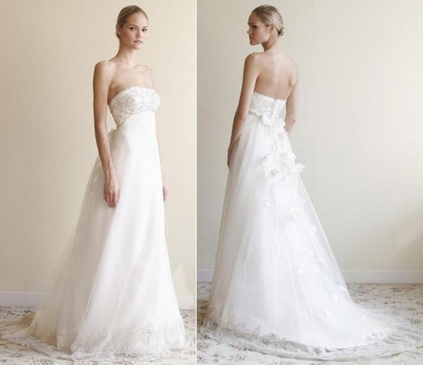 В чем достоинства свадебного платья в стиле ампир. Фото с сайта onewed.com