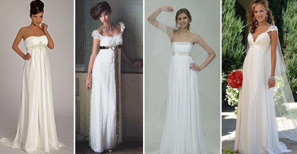 Свадебные платья ампир: разнообразие моделей. Фото с сайта 38nevest.ru