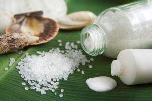 ванночка с солью и йодом для ногтей
