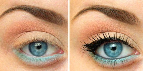 Šminka za plave oči Foto korak po korak