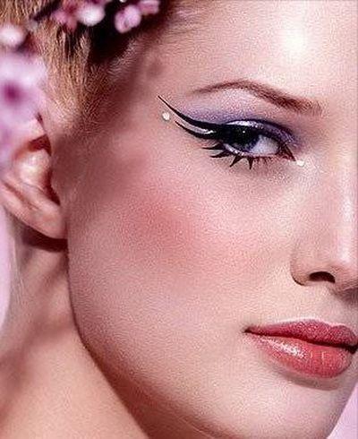 Šminka za plave oči - strelice