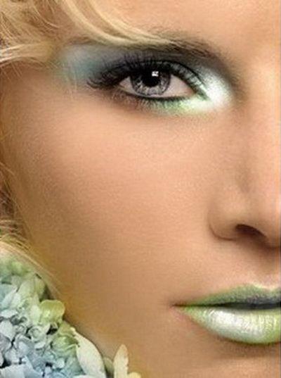 šminka plave oči