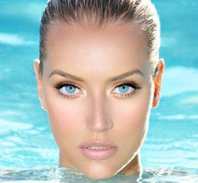 Make-up srednje plave oči