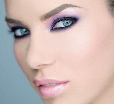 Makeup sivo-plave oči