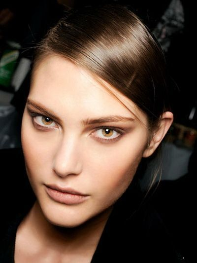 make-up smeđe oči