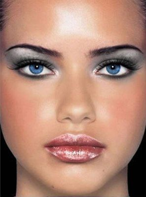 Šminka za plavo-sive oči čelika Lady