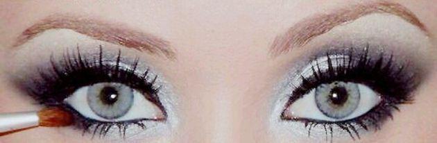 srebro šminka za svjetlo oči