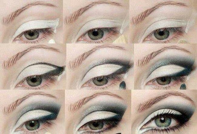 Šminka za plavo-sive oči postepeno