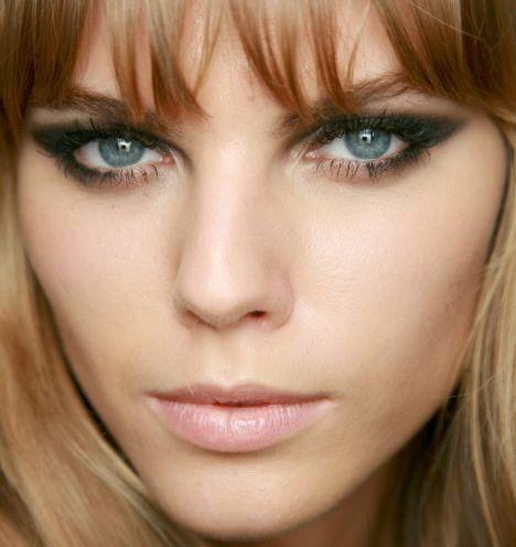 šminka za sivo-plave oči vještica