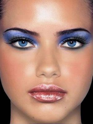 Šminka za plavo-sive oči Snow Queen