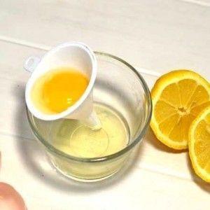 Маска из белка с лимоном