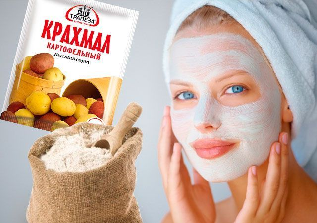 Maska za obraz iz škroba z Botox učinkom doma