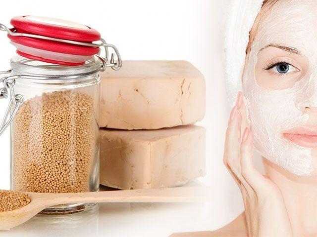 Facial maska doma iz kvasa