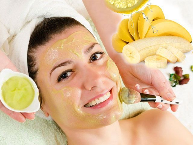 Obličejové masky z banánu doma