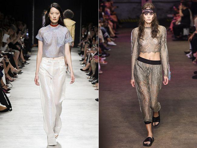 Прозрачные брюки весна-лето 2017
