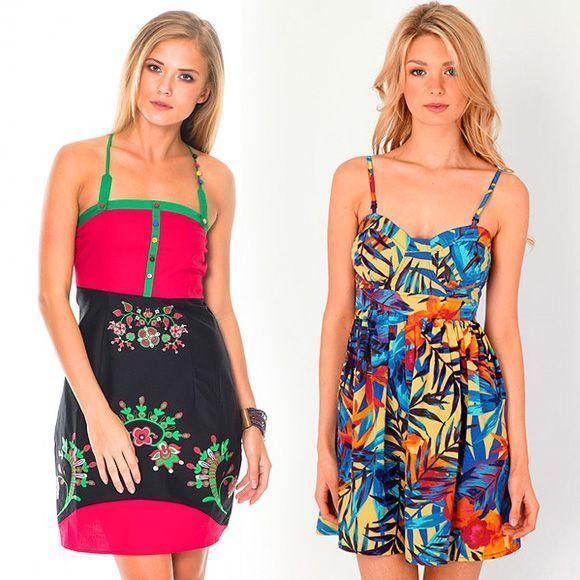 Trendi sundresses vesele boje - foto