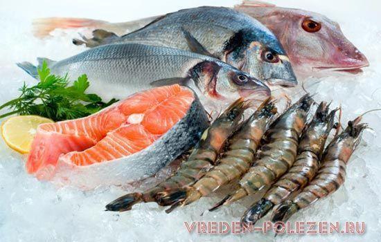 Заморозка сырой рыбы, убивает в ней паразитов