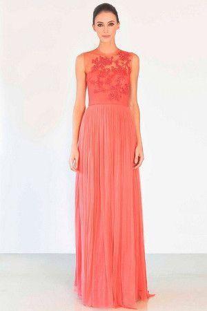 Вечернее платье пастельного тона