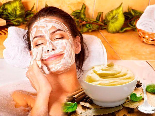 Whitening masku doma obličeje