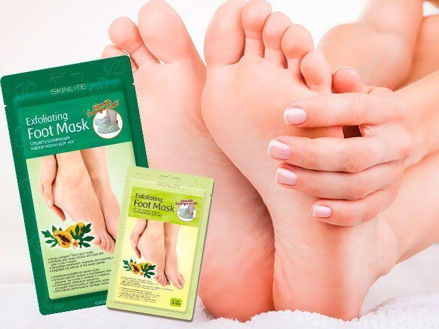 Exfoliační Ponožky maska na způsobu použití nohy