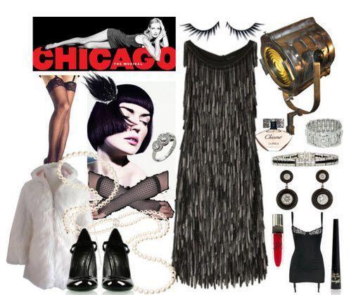 Šaty ve stylu Chicago