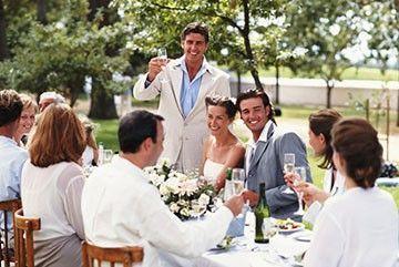 поздравления с днем свадьбы своими словами жениху и невесте