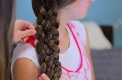 коса из 6 прядей набок