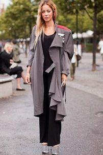 Iz onoga što nositi ženske sivi ogrtač