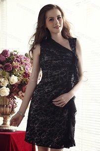 Черное вечернее кружевное платье-футляр