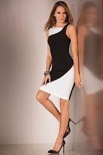 Платье-футляр c вырезом горловины в форме лодочки