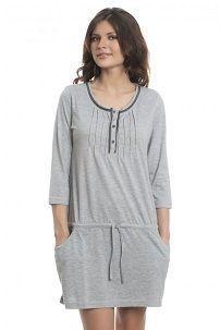 Siva ljetna haljina s niskim strukom