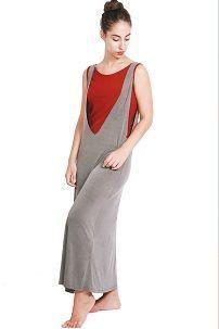 Siva ljetna haljina-trapez (haljinu)