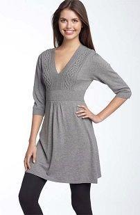 Siva zimska džemper haljina