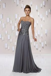 Elegantna siva večernje haljine