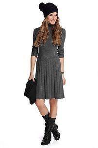 Зимнее вязаное платье с аксессуарами