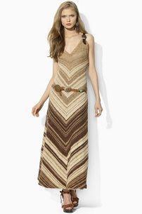 Длинное вязаное платье для коктейльной вечеринки